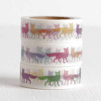 Pop Art Fox Washi Tape, 15mm
