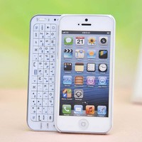 Sliding Bluetooth Wireless Keyboard Case Cover for Iphone4/4s/5