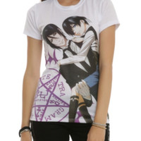 Black Butler Sebastian Carries Ciel Girls T-Shirt