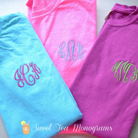Comfort Colors Monogram T-shirt