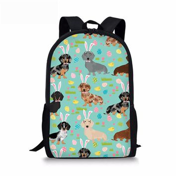 School Backpack WHOSEPET Cute Dog Children Kids School Bags Dachshund School Book Bag for Girls Boys Teenager Schoolbag Casual Mochila Infantil AT_48_3