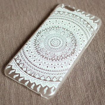 """White Mandala"" iPhone Case"