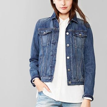 Shop Gap Denim Jacket on Wanelo