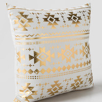 Gold Aztec Pillow