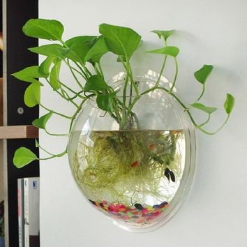 High Quality Acrylic Wall Hanging Bubble Aquarium Bowl Fish Tank Aquarium,shrimp fish tanks, Home Decoration