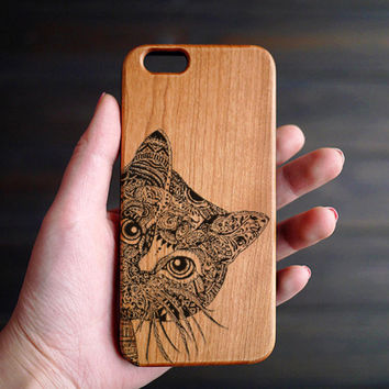 Cat Wood iPhone 6 6s Case