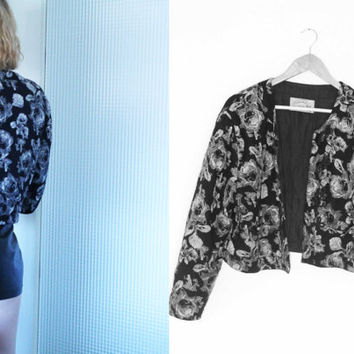 Vintage Clothing - Jacket 1980s black & white grunge Roses