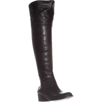 Vince Camuto Bestan Studded Over The Knee Boots, Black, 8 US / 38 EU