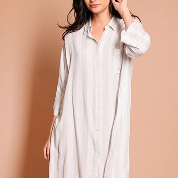 We Collide Shirt Dress | Threadsence