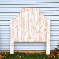 The Atlas - Shabby Chic White Wooden Distressed Headboard