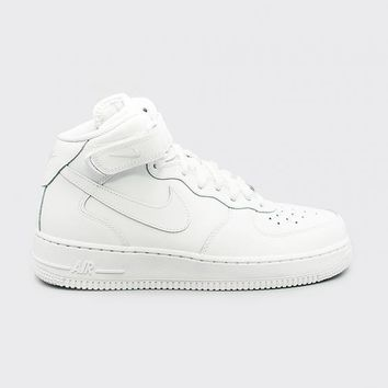 auguau NIKE - Boy - GS Air Force 1 Mid - White Mono