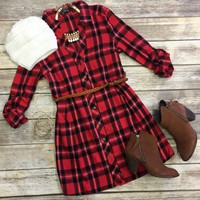 Country Mile Plaid Belted Tunic