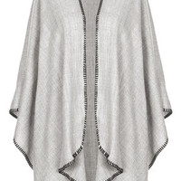 Super-Soft Cape - Grey Marl