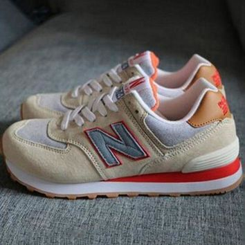 LMFUX5 new balance abric is breathable n leisure sports couples forrest gump running army green