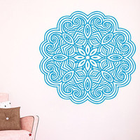 Wall Decals Vinyl Decal Sticker Bedroom Yoga Home Interior Design Art Mural Mandala Indian Pattern Amulet Floral Design Flower Decor KT131 - Edit Listing - Etsy