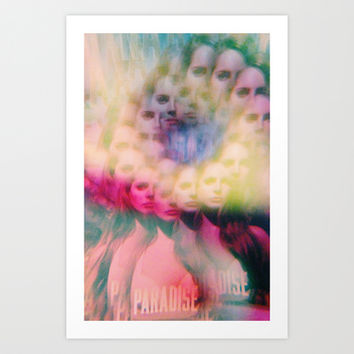 Trippy Lana Art Print by Connor Caldwell