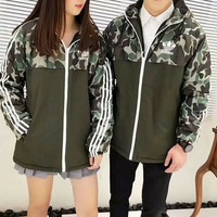 Plus cashmere camouflage cotton jacket