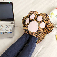 Cute Leopard USB Foot Hand Pet Paw Warmer Heater
