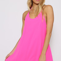 One Trick Dress - Hot Pink
