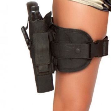 Black Army Babe Gun Leg Holster Costume Accessory @ Amiclubwear costume Online Store,sexy costume,women's costume,christmas costumes,adult christmas costumes,santa claus costumes,fancy dress costumes,halloween costumes,halloween costume ideas,pirate cost