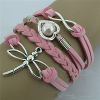 Anchor Love Dragonfly Hand Woven Bracelet
