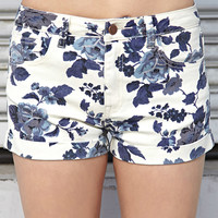 Favorite Floral Denim Shorts