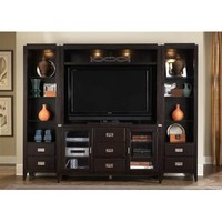 Liberty Furniture Harbor Town Entertainment Center with Piers in Mocha Finish