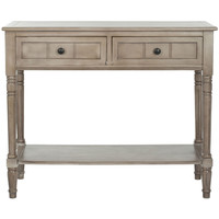 Console Accent Table Traditional Style Sofa Table in Distressed Cream