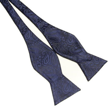 polyester pattern fashion men's self tie bow ties knot cravat butterfly 20 colors