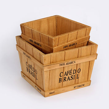 Home Wooden Storage Box Cosmetic Home Decor [6282542086]