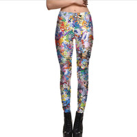 hOT Print 3d Digital Women Leggins Sexy Slim Ninth Pants Workout Trousers High Stretch Fashion Fitness Leggings Plus Size 4XL