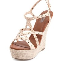 Studded Strappy Espadrille Wedge: Charlotte Russe