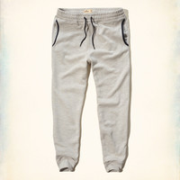Hollister Textured Fleece Jogger Pants
