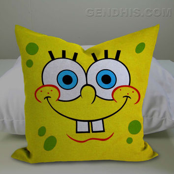 Spongebob Squarepants 302 Pillow Case, Pillow Cover, Custom Pillow Case