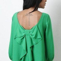 Bow Back Girl Top
