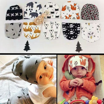 Free shipping Cute Toddler Kids Girl&Boy Baby Infant Winter Warm Crochet  Knit  Hat Character Skullies Beanies Cap Many color
