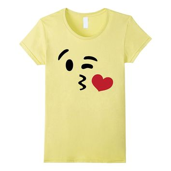 Emoji T Shirt Halloween Costume Heart Kiss Wink Yellow