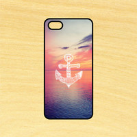Anchor Sunset Art Phone Case iPhone 4 / 4s / 5 / 5s / 5c /6 / 6s /6+ Apple Samsung Galaxy S3 / S4 / S5 / S6