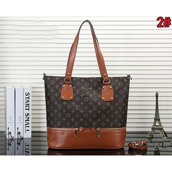 LV Louis Vuitton Popular Women Shopping Bag Leather Handbag Tote Shoulder Bag Crossbody Satchel 2#