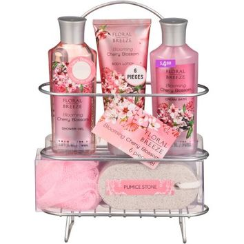 Floral Breeze Blooming Cherry Blossom Bath Gift Set, 6 pc - Walmart.com