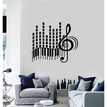 Vinyl Wall Decal Music Love Stereo Treble Clef Abstract Piano Stickers Mural (g1666)