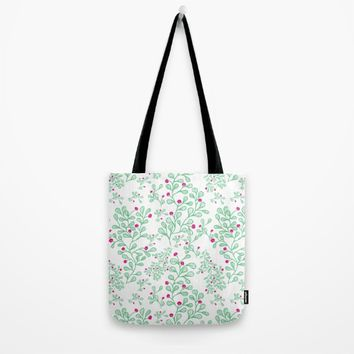Petite mon amour mint Tote Bag by Vicky Theologidou