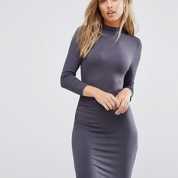 Vila Jersey Bodycon Dress at asos.com