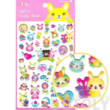 Bunny Rabbit Present Cakes and Gifts Shaped Stickers for Scrapbooking