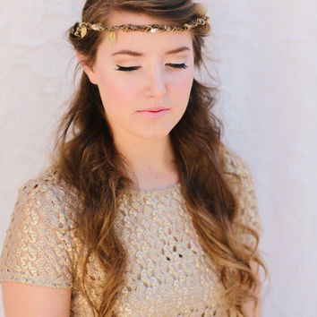 Jessa Bridal Headband Woodland Inspired Bridal Halo by LoBoheme
