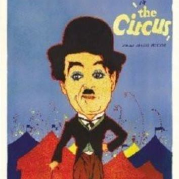 Circus Charlie Chaplin Movie poster Metal Sign Wall Art 8in x 12in