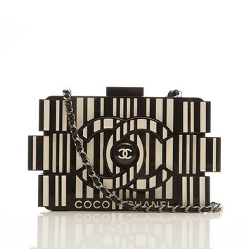 Chanel Runway Op-art Lego Boy Bag