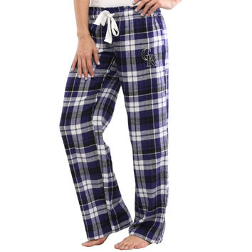 Colorado Rockies Women's Reign Flannel Plaid Pant – Purple