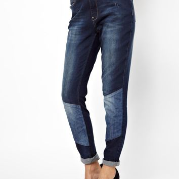2nd Day Friola Patched Boyfriend Jeans