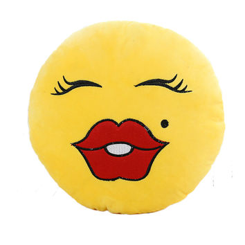 RUBIHOME Decorative Smile Kiss Emoji Pillow Cushions with Inner Filled Sofa Home Decor Creative Plush Toys on Bed Gift